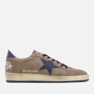 Golden Goose Deluxe Brand Men's Ball Star Sneakers - Brown Suede/Blue Star