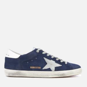 Golden Goose Deluxe Brand Men's Superstar Sneakers - Blue Suede/Silver