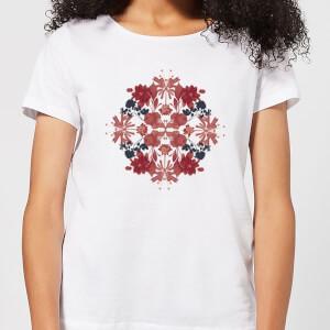 T-Shirt Femme Fleurs et Feuilles - Natural History Museum - Blanc
