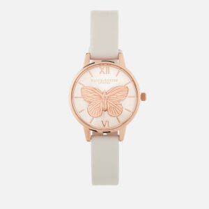 Olivia Burton Women's 3D Butterfly Watch - Blush/Rose Gold