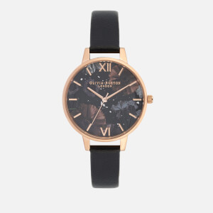 Olivia Burton Women's Celestial Watch - Black/Rose Gold