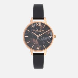 Olivia Burton Women's Celestial Watch - Black/Rose Gold