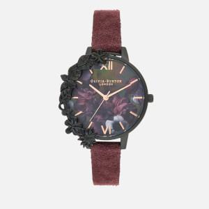 Olivia Burton Women's After Dark Floral Case Watch - Burgundy/Black