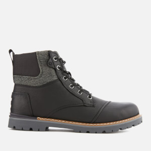 TOMS Men's Ashland Waterproof Leather Hiker Boots - Black