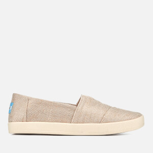 TOMS Women's Avalon Metallic Slip On Woven Trainers - Rose Gold
