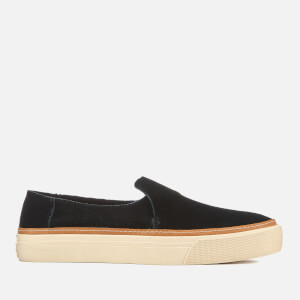TOMS Women's Sunset Suede Slip On Trainers - Black