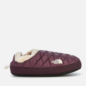 The North Face Women's Thermoball Tent Mule Faux Fur IV Slippers - Shiny Fig/Vintage White