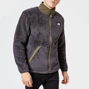 The North Face Men's Campshire Full Zip Pile Fleece - Weathered Black/New Taupe Green