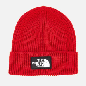 The North Face Men's TNF Logo Box Cuffed Beanie - TNF Red