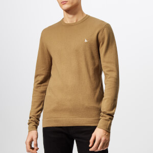 Jack Wills Men's Seabourne Classic Crew Knit Jumper - Sand
