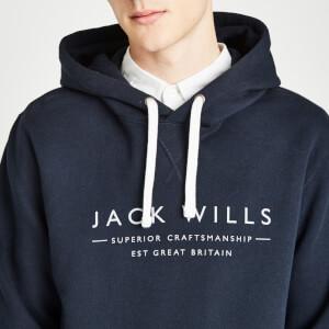 Jack Wills Men's Batsford Wills Pop Over Hoody - Navy