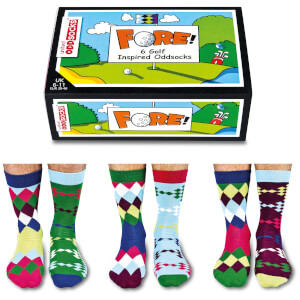 United Oddsocks Men's Fore! Socks Gift Set