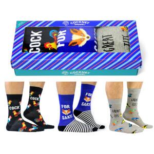 Cockney Spaniel Men's Novelty Socks Gift Box