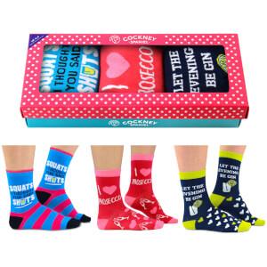 Cockney Spaniel Women's Boozy Socks Gift Box