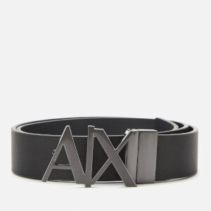 Armani Exchange Men's Ax Buckle Belt - Black