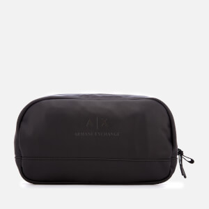 Armani Exchange Men's PU Wash Bag - Black