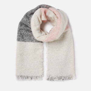 Barbour Women's Plaid Boucle Wrap - Ecru/Pink/Grey