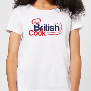 British Cook Red Women's T-Shirt - White