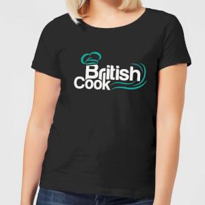 British Cook Green Women's T-Shirt - Black
