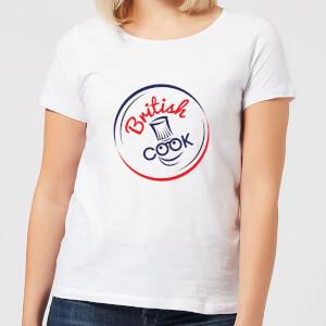 British Cook Circle Logo Women's T-Shirt - White