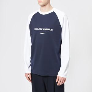 Drôle de Monsieur Men's Long Sleeve T-Shirt - Navy