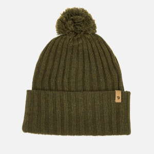 Fjallraven Men's Byron Pom Hat - Dark Olive