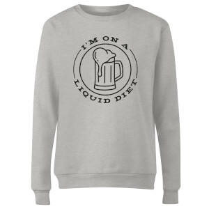 Liquid Diet Beer Women's Sweatshirt - Grey