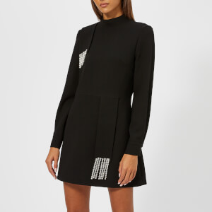 Christopher Kane Women's Crystal Crepe Mini Dress - Black