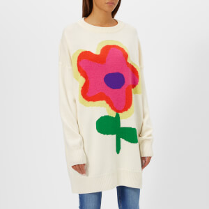 Christopher Kane Women's Jumbo Flower Intarsia Sweater - Cream