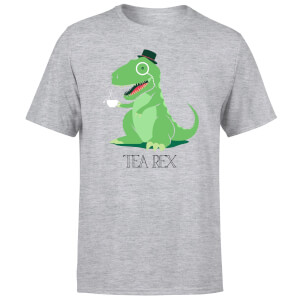 Tea Rex Men's T-Shirt - Grey