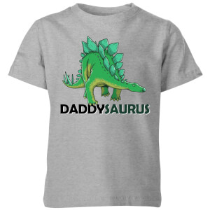 Daddysaurus Kids' T-Shirt - Grey