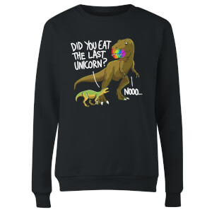 Dinosaur Unicorn Women's Sweatshirt - Black