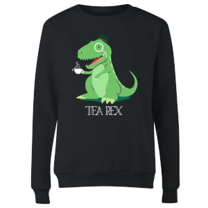 Tea Rex Women's Sweatshirt - Black