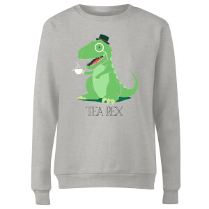 Tea Rex Women's Sweatshirt - Grey