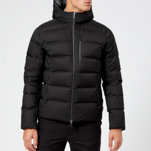 Herno Laminar Men's GORE-TEX Hooded Bomber Down Jacket - Black