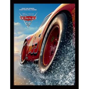 Cars 3 (Beach) Framed 30 x 40cm Print