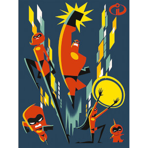 Incredibles 2 (Team) 60 x 80cm Canvas