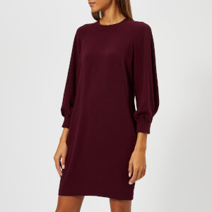 Whistles Women's Tihara Dress - Burgundy