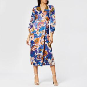 Whistles Women's Autumn Bloom Devore Wrap Dress - Multi