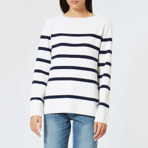 A.P.C. Women's Saint Martin Jumper - White/Blue