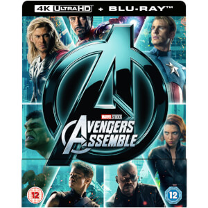 Avengers Assemble 4K Ultra HD (Includes 2D Version) - Zavvi UK Exclusive Steelbook