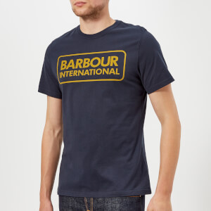 Barbour International Men's Essential Large Logo T-Shirt - Navy
