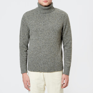 Universal Works Men's Lambswool Roll Neck Knit Jumper - Grey