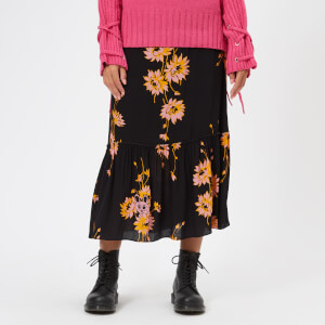 McQ Alexander McQueen Women's Volume Midi Skirt - Darkest Black