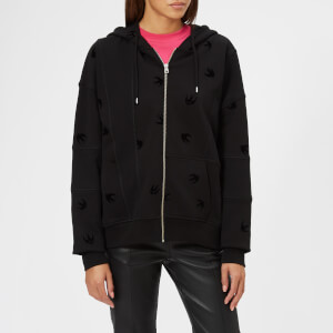 McQ Alexander McQueen Women's Cut Up Zip Hoody - Darkest Black