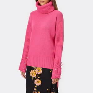 McQ Alexander McQueen Women's Lace Up Jumper - Acid Pink