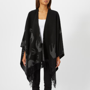 McQ Alexander McQueen Women's Swallow Poncho - Black: Image 1