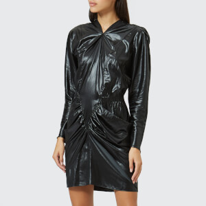 Isabel Marant Women's Soya Shiny Techno Dress - Black
