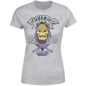 He-Man Skeletor Distressed Women's T-Shirt - Grey