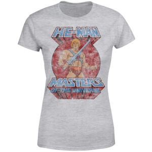He-Man Distressed Women's T-Shirt - Grey